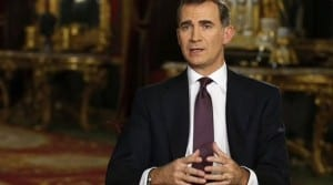 KING FELIPE: Calls for Spanish unity
