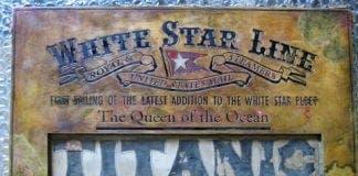 titanic plaque e