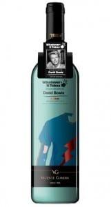 David Bowie's wine bottle label design
