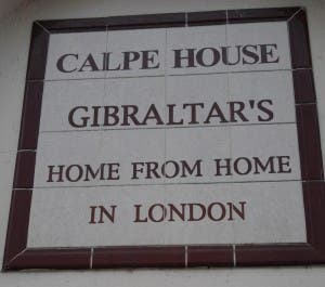 WELCOME: Calpe House sign greets Gibraltarians