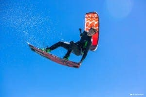 Kitesurfer Liam Whaley. Photo: Alan van Gysen