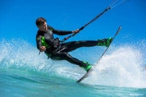Kitesurfer Liam Whaley. Photo: Alan van Gysen