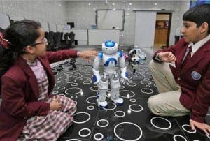 Robots at Merryland International School in Musaffah