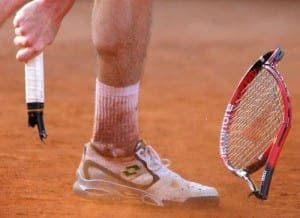Smashed-tennis-racket