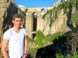 OP blogger Luke Andrews in Ronda - the City of Dreams