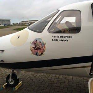 Iron Maiden's Bruce Dickinson flies injured endangered turtle on his jet