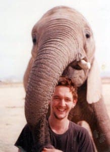 Floria chef and elephant trainer Nigel Crumplin