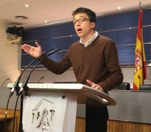 DEMANDS: Podemos delegate Inigo Errejón