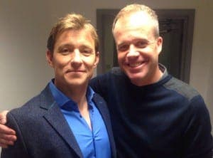 TIPPING POINT: Chris Birkett with game show host Ben Shephard (left)
