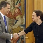 Podemos leader meets King Felipe VI