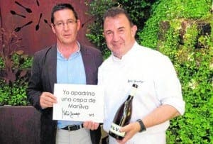 TOP BUYER: Argimiro Martinez Moreno with Martin Berasategui – the world's best restaurant according to TripAdvisor