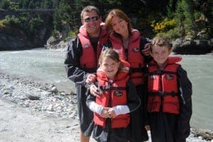 The family in Queenstown, New Zealand
