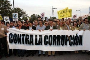 ANGER: Spaniards tired of corruption scandals