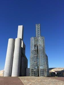 STUNNING: Peter Eisenman's hilltop buildings