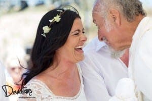 TRUE BLESSING: Padre Peter and happy bride