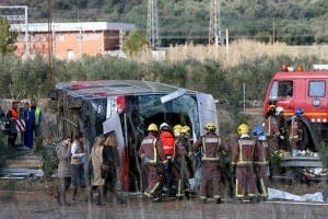 TARRAGONA: 13 people have been killed and more than 30 have been injured in a coach crash
