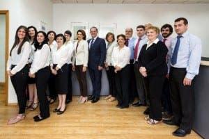 CAPURRO: The team with MD Patrick Sheppard-Capurro (centre)