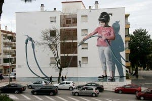 IMPRESSIVE: Estepona has cleaned up its act with beautiful street art
