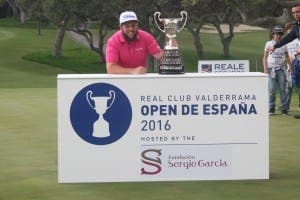 BEEFED UP: Jonhston celebrates first European Tour title