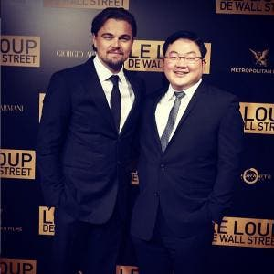 Jho Low with Leonardo DiCaprio