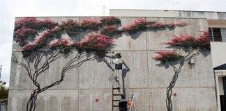 mural bougainvillea