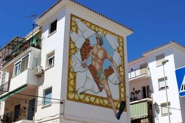 mural snorkeller