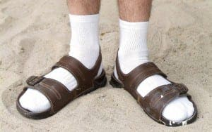 socks and sandals