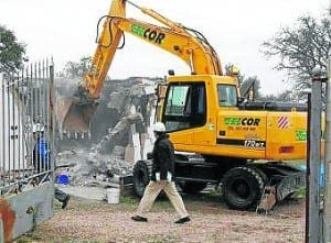 the prior house demolition