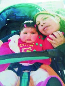 Fatima with daughter