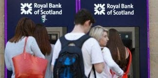 Royal Bank of Scotland Cash machines queues e