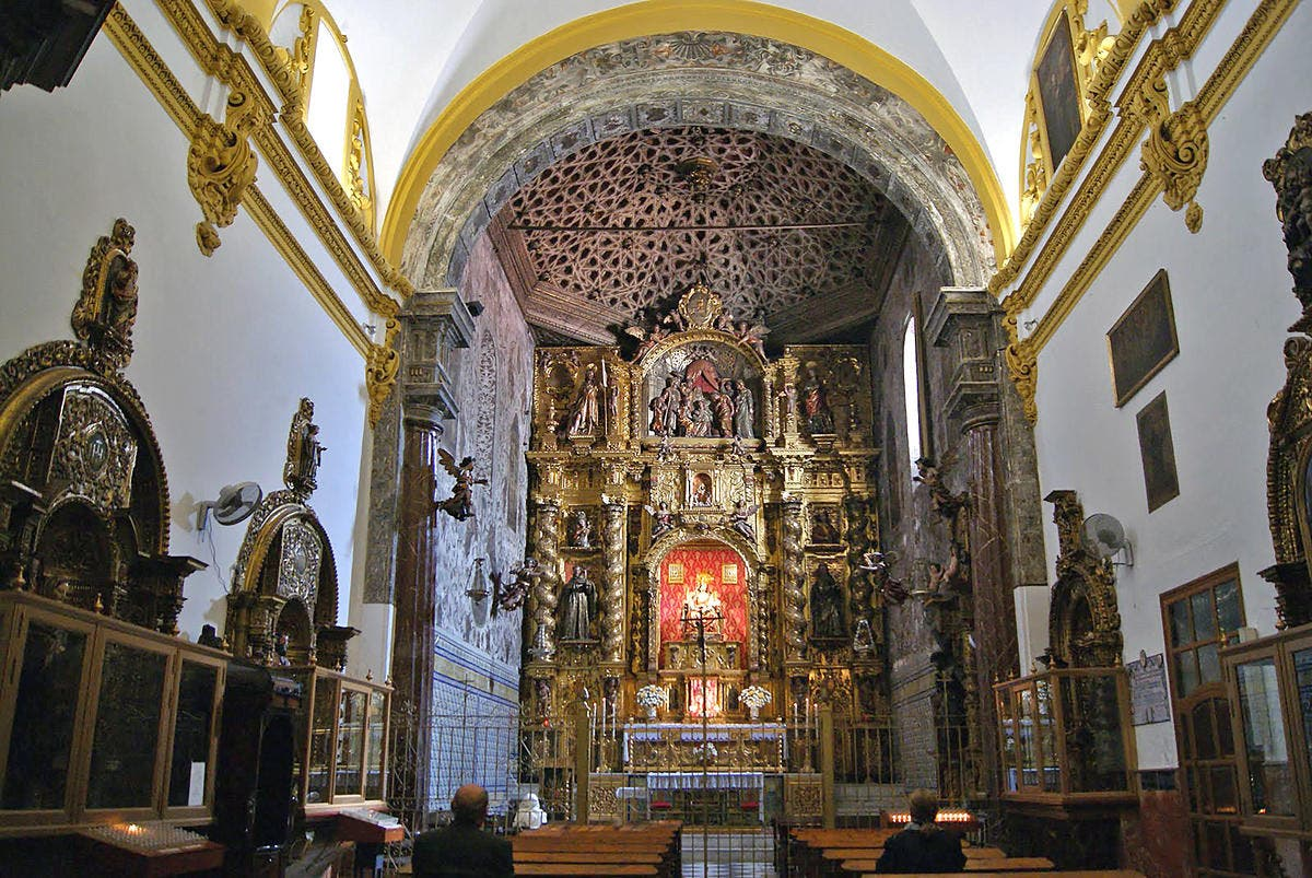 Main altar of the Monastery of Santa MarÌa de Jes?s
