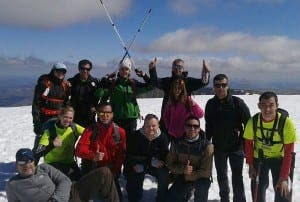 The team from Taylor Wimpey on Ben Nevis