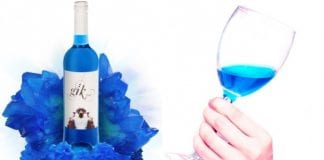 blue wine e