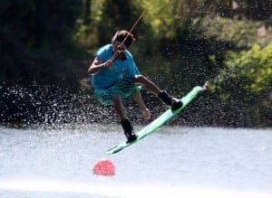 GET YOUR KICKS: Wakeboading