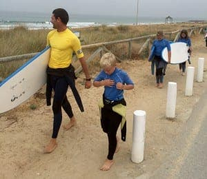 SURF'S UP: Off for a lesson