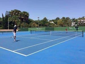 Novak playing tennis
