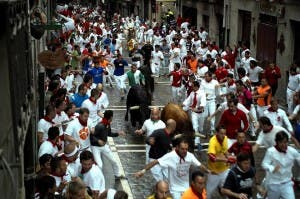 Pamplona fights festival urine
