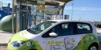 car runs on algae e