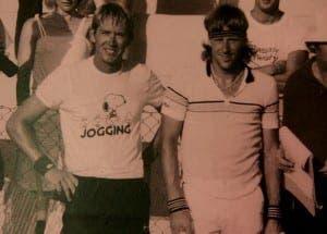 DREAM TEAM: Ian with Bjorn Borg