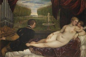 Nudes, CAPTION Titian, Venus with an Organist and Cupid