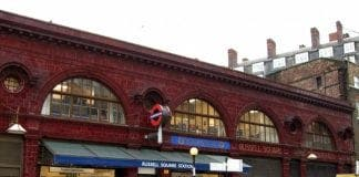 Russell Square station e