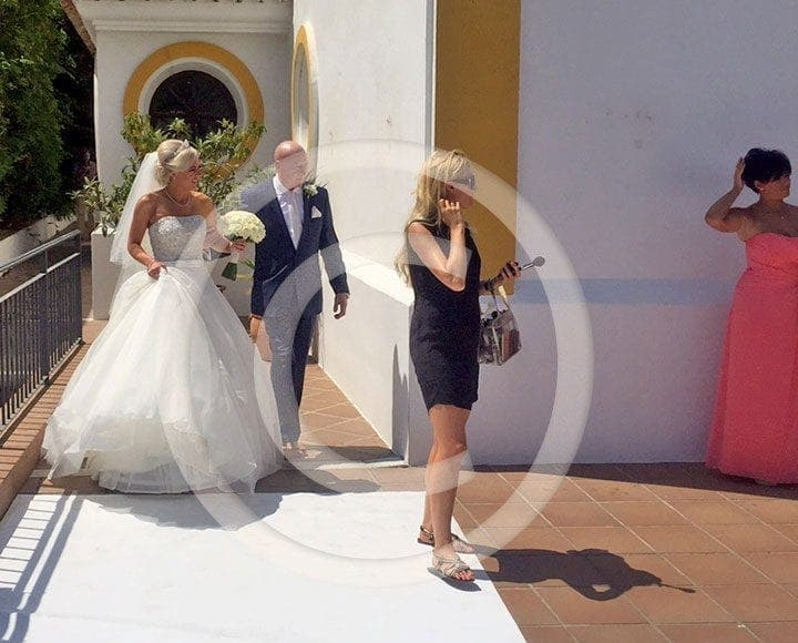 olive press spain bride of russell watson arrives