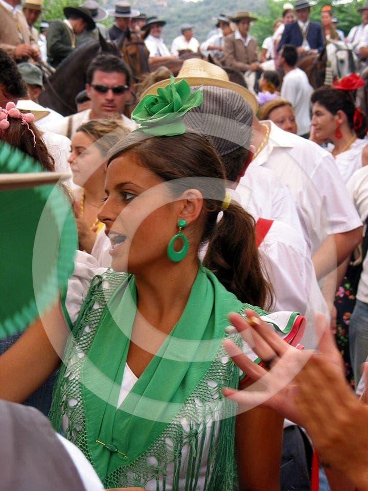 olive press spain singing at feria in cazalla de la sierra sevilla