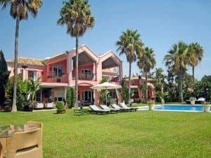 EXTRAVAGANT: Marbella mansions