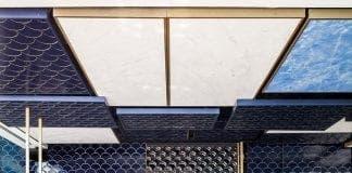 tile awards last years interior design winner el equipo creativo Blue Wave Cocktail Bar