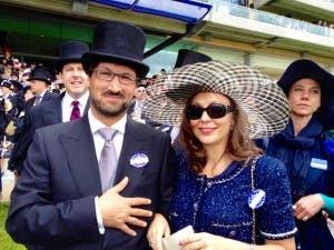 Acklom with wife Yolanda Ros. Photo. Copyright The Olive Press