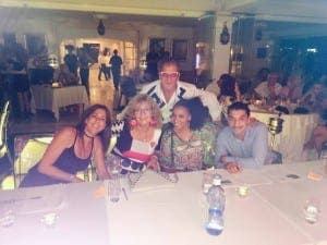Tony with the judges and his sister