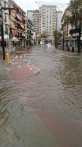 Avenida Nabuel flooded. Photo by Planet Marbella