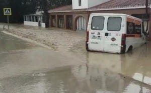 PANIC: Flooding hits Vejer