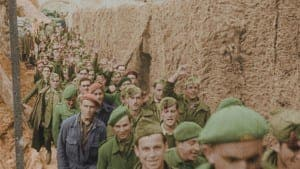 A still from Antony Beever's new colour documentary, Spain Divided: The Civil War in Colour on DMAX